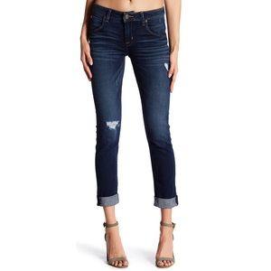 Hudson Bacara Cuffed Crop Blue Jeans in Laid Back